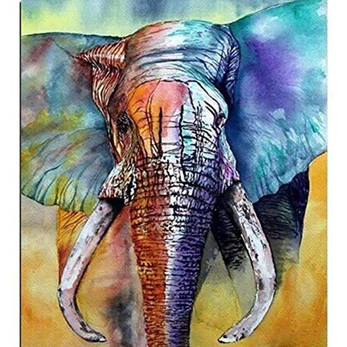 (DIY Diamond Painting Kits for Adults, Kids,Home Decor Room Office Presents for Her Him Elephant 11.8x15.7in 1 by)