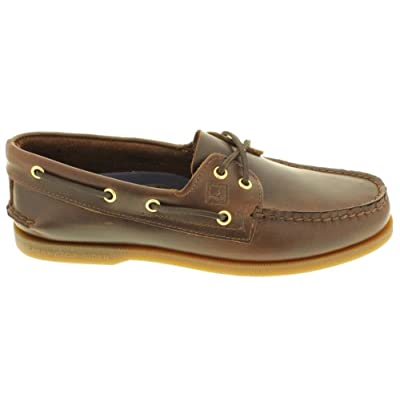 Sperry Topsider Mens Authentic Original Amaretto Boat Shoe - 14 M: Shoes