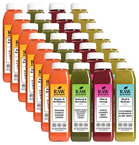 Raw Generation 80/20 Juice Cleanse - 7 Day Cleanse / You Can Eat While You Juice Cleanse / 100% Raw Juice by Raw Generation