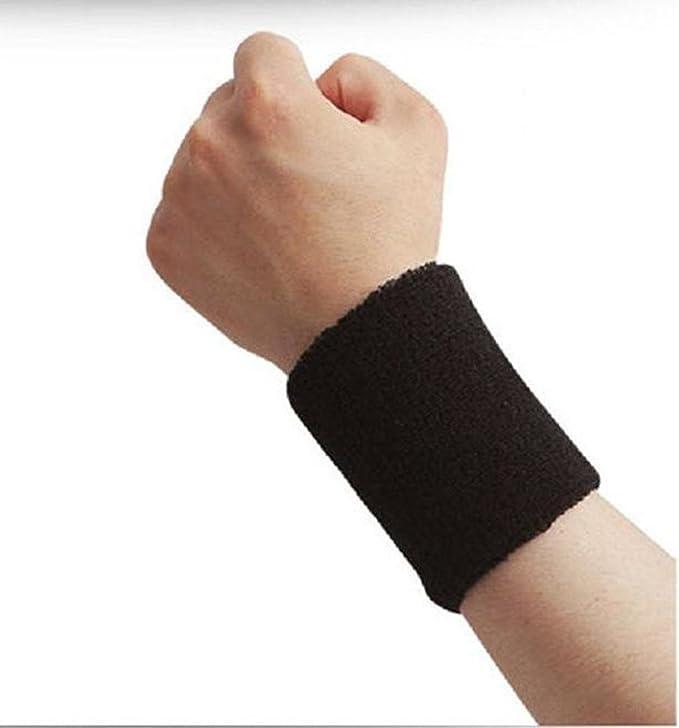 JW/_ 2Pcs Cotton Sport Wristbands Wrist Band Tennis Bands Sweatbands Sweat Band