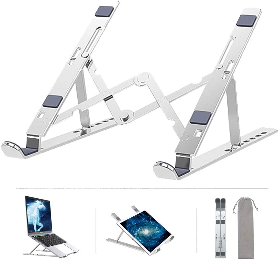 Laptop Stand Portable,Asltoy Foldable Computer Stand Laptop Holder Notebook Tablet Stand,Adjustable Laptop Riser with 7 Levels Height,Laptop Mount Desktop Stand for 7-15.6 inch Tablet Holder