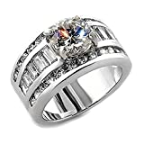 1000 jewels wedding sets - Bianca: 5.2ct Ice on Fire CZ 3 in 1 Stacked Wedding Ring Set 925 Sterling Silver, 3068 sz 8.0