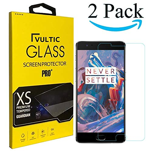 Vultic OnePlus 3 / 3T Screen Protector Tempered Glass [Case Friendly] Film Cover for OnePlus 3 and OnePlus 3T [2 Pack]