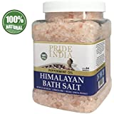 Stolz Of India - Himalayan Pink Bathing Salt - Enriched w/Peppermint Oil and 84+ Natural Minerals, 2.5 Pound (40oz) Jar - Bath Salts, Bath Salts for Women and for Men, Himalayan Salt Bath