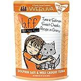 Weruva Best Feline Friend (B.F.F.) Tuna & Salmon Sweet Cheeks with Tuna & Salmon in Gravy Cat Food by, 3oz Pouch (Pack of 12)