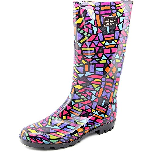 nicole-miller-new-york-rainyday-women-us-10-multi-color-rain-boot