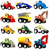 Toys for 3-6 Year Old Boys, Friday Mini Toy Cars for 3 4 5 6 Year Old Boys 12 Pack Pull Back Cars Gifts for 3-6 Year Old Boys Christmas Toys for Boys Kids Halloween FDCAC12H