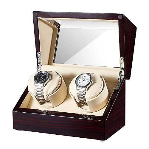JQUEEN Double Watch Winder for 2 Heavy Watches