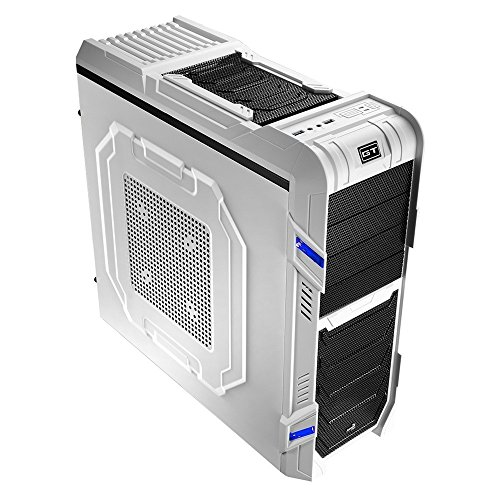 Aerocool GT-R Midi Tower Gaming Case with 18cm LED Fan – White