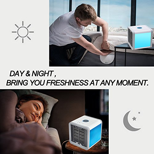 Air Conditioner Portable Air Conditioner Personal Space Air Cooler Mini Portable Space Air Conditioner, Portable Space Cooler for 45 Square Feet, Desk Table Fan for Office Home Outdoor by PLZ (Image #6)