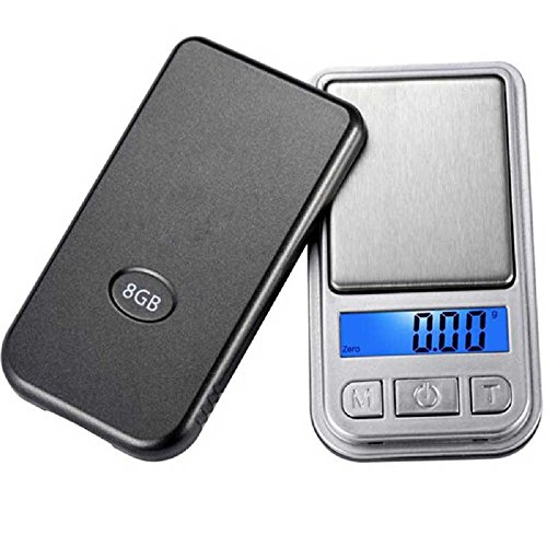 Jewelry Digital Scale, Rcool 0.01g~200g LCD Ultrathin Jewelry Gold Sliver Drug Herb Balance Weight Gram Scales Portable Pocket Mini Scale