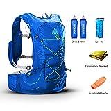 POJNGSN Outdoor Lightweight Hydration Backpack Rucksack Bag Free 2L Water Bladder for Hiking Camping Running Race Set-B
