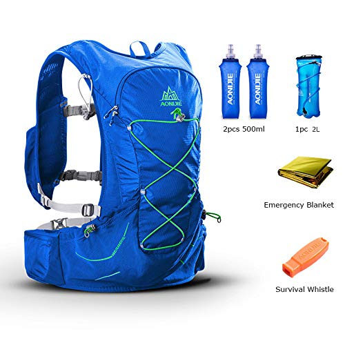 POJNGSN Outdoor Lightweight Hydration Backpack Rucksack Bag Free 2L Water Bladder for Hiking Camping Running Race Set-B by POJNGSN (Image #2)