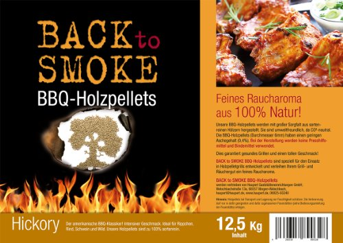 Grill Pellets Back to Smoke Hickory 12,5 kg