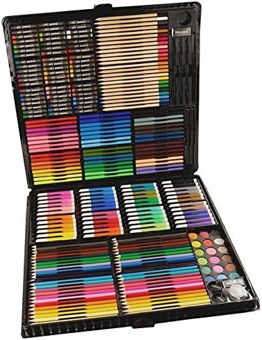 水彩ペン 水彩毛筆 水性筆ペン ドローイングアートマーカークリエイティブ文具258人の子供のブラシビッグは水彩ペンが学生ドローイングアートを設定する設定しました マーカーペン (色 : Black)