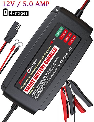 Bmk 12v 5amp Fully Automatic Battery Charger 4 Stage