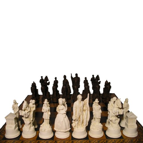 American Civil War Crushed Stone Chess Pieces