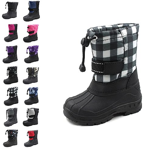 Ska-Doo Cold Weather Snow Boot 1317 Checker Size - Snow Boots Big Boys Size 6