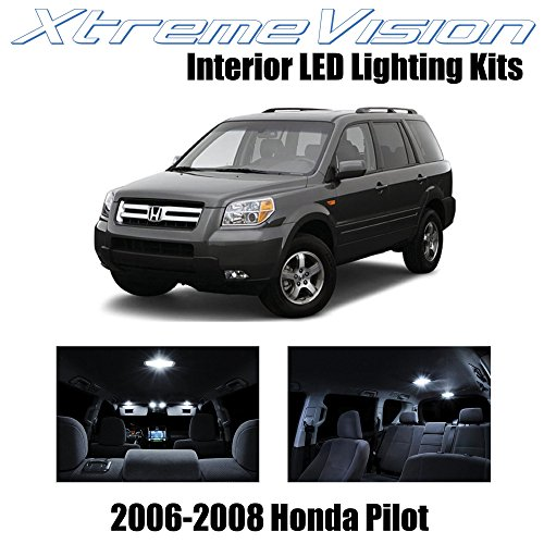 XtremeVision Interior LED for Honda Pilot 2006-2008 (12 Pieces) Pure White Interior LED Kit + Installation Tool Tool
