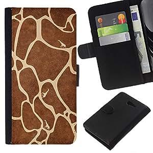 EJOY---La carpeta del tirón la caja de cuero de alta calidad de la PU Caso protector / Sony Xperia M2 / --Modelo de la jirafa