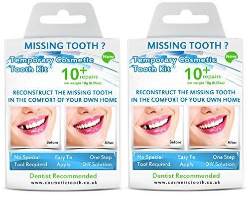 Cosmetic Teeth - Kit para diente faltante, 2 unidades Cosmetic Teeth Uk