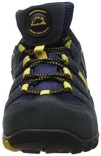 Hombre para de de N Yellow Groundwork Cuero GW400 Azul Zapatos Seguridad Navy 86Rx0qwx