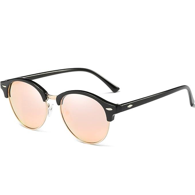 JULI Gafas de sol Polarizadas Hombre Mujer Marco Semi sin montura Marca Diseñador Clásico