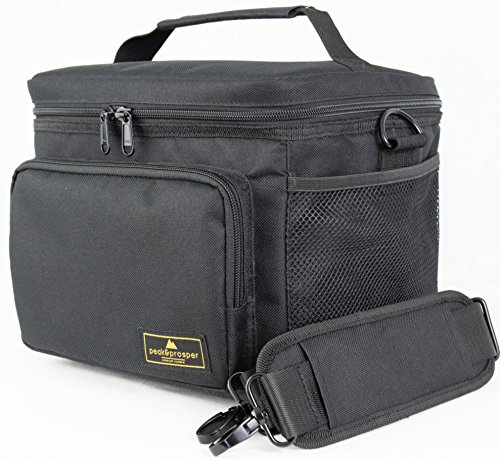Premium Lunch Cooler Box, Medium Black Insulated Lunch Bag. Water Resistant and Heavy Duty. Perfect For Adults, Men, Women and Teens - Peak and Prosper - Sites Shopping In Usa