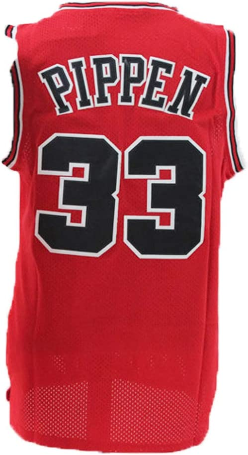LAMBO Mens Basketball Jersey Chicago Bulls Scottie Pippen #33 Breathable Swing Man Jersey Fans Sports Sleeveless T-Shirt