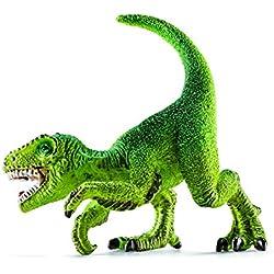 Schleich Réplica de Figura de Dinosaurio Mini Velociraptor, color verde