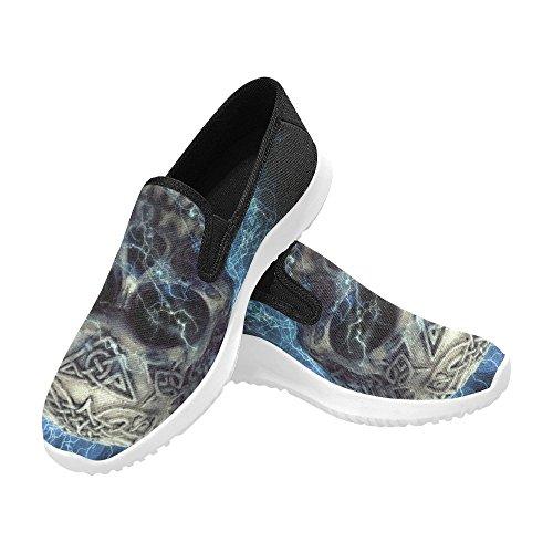 D-Story Shoes Zombie Eye Slip-On Womens Canvas Sneakers Skull 2 U1SZ8Utheg