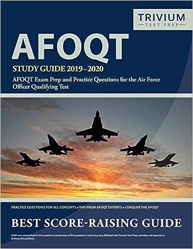 Trivium Tour 2020 AFOQT Study Guide 2019 2020: AFOQT Exam Prep and Practice