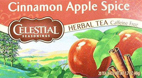 Celestial Seasonings Herbal Tea, Cinnamon Apple Spice, 20 Count (Pack of 3)