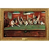 Coolidge Dogs Playing Pool Poster Print, 36x24 Poster Print, 36x24