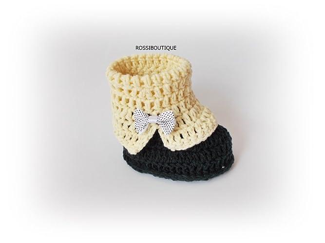b8da570ebd81e Amazon.com: Crochet baby booties Knit baby boots: Handmade