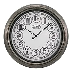 La Crosse Technology 18 Indoor/Outdoor Lighted Nickel Wall Clock
