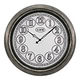La Crosse Technology 18'' Indoor/Outdoor Lighted Nickel Wall Clock