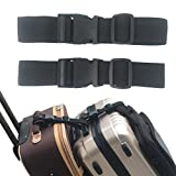 2 PCS Add A Bag Strap for Connect Your 3 Luggages Adjustable Travel Suitcase Belt