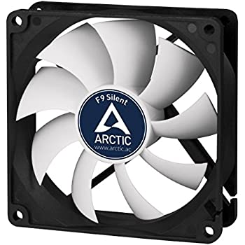 Arctic F9 Silent, 92 mm 3-Pin Fan with Standard Case and Higher Airflow, Quiet and Efficient Ventilation