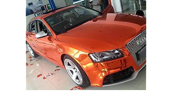 Elástico cromo Naranja para 3d rápido Car Wrapping, espejo pantalla, cromo pantalla: Amazon.es: Coche y moto