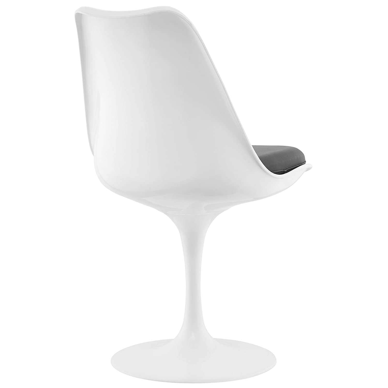 Modway Lippa Dining Vinyl Side Chair in Gray