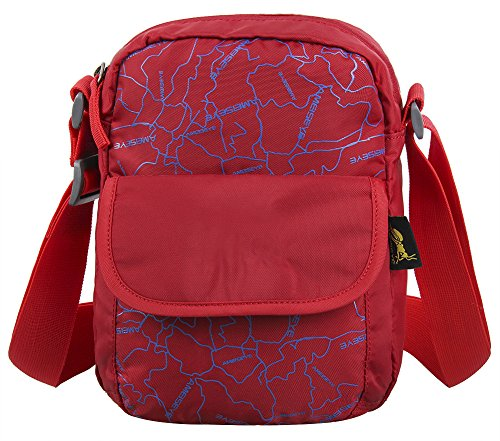 WATERFLY Cross Body Messenger Shoulder Bag Working Satchel Travel Sling Pack(Red)