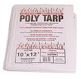 Flame Resistant Poly Tarp 100% Waterproof Washable Mildew   Rot Resistant 10x12
