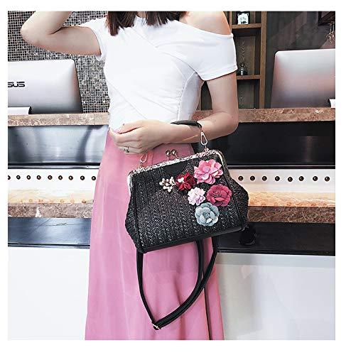 Main For À Women Khaki Bandoulière color Sac De Bags Soirée Jessiekervin Floral Yy3 Vintage Black tqYwYR0