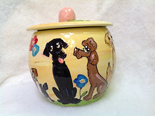 Labrador Retriever Treat Jar. Personalized at no Charge. Signed by Artist, Debby Carman. by Faux Paw Productions, Inc., Laguna Beach, CA