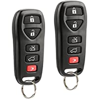 Key Fob Keyless Entry Remote fits 2004 2005 2006 2007 2008 2009 Nissan Quest (KBRASTU51), Set of 2