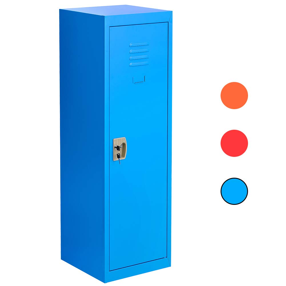 Locker for Kids Metal Locker for Bedroom,Kids Room,Steel Storage Lockers for Toys,Clothes, Sports Gear (49 Inch, Blue) by INTERGREAT