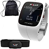 Polar 90051345 - M400 GPS Training Companion with Heart Rate with Bag - White