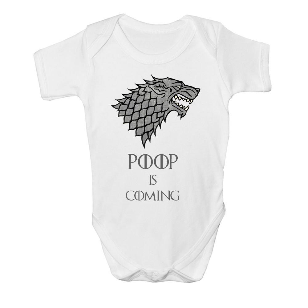 Game Of Thrones Stark Baby Vest Grow Funny Bodysuit Top Size Boys Girls Gift (3 - 6 Months) MommAndMe