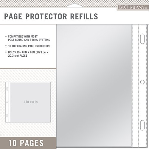 K&Company Page Protector Refills 8x8 10/Pkg-